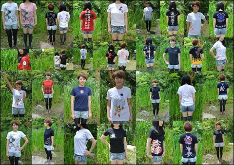 戦国Tシャツ【女性モデル】