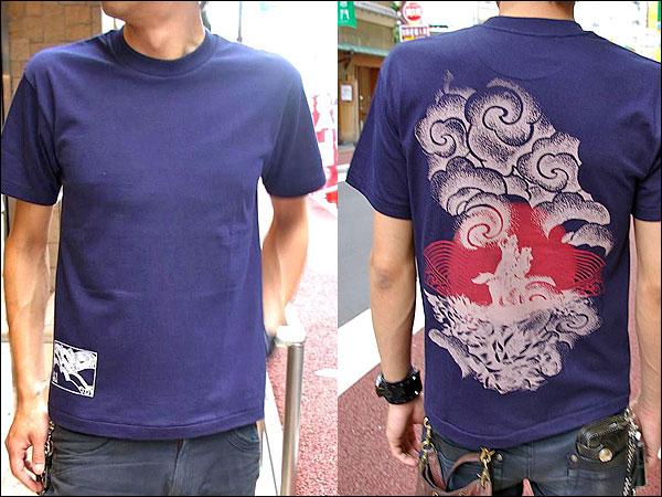 戦国Tシャツ【越後の龍・上杉謙信・第4弾】紺男性着用