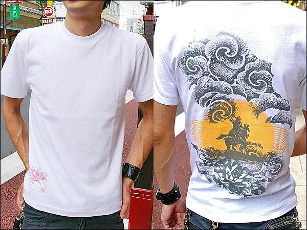 戦国Tシャツ【越後の龍・上杉謙信・第4弾】白男性着用